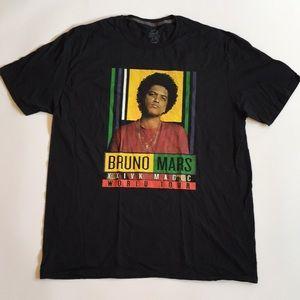 "Bruno Mars ""XXIVK MAGIC""World Tour Graphic T-Shirt"